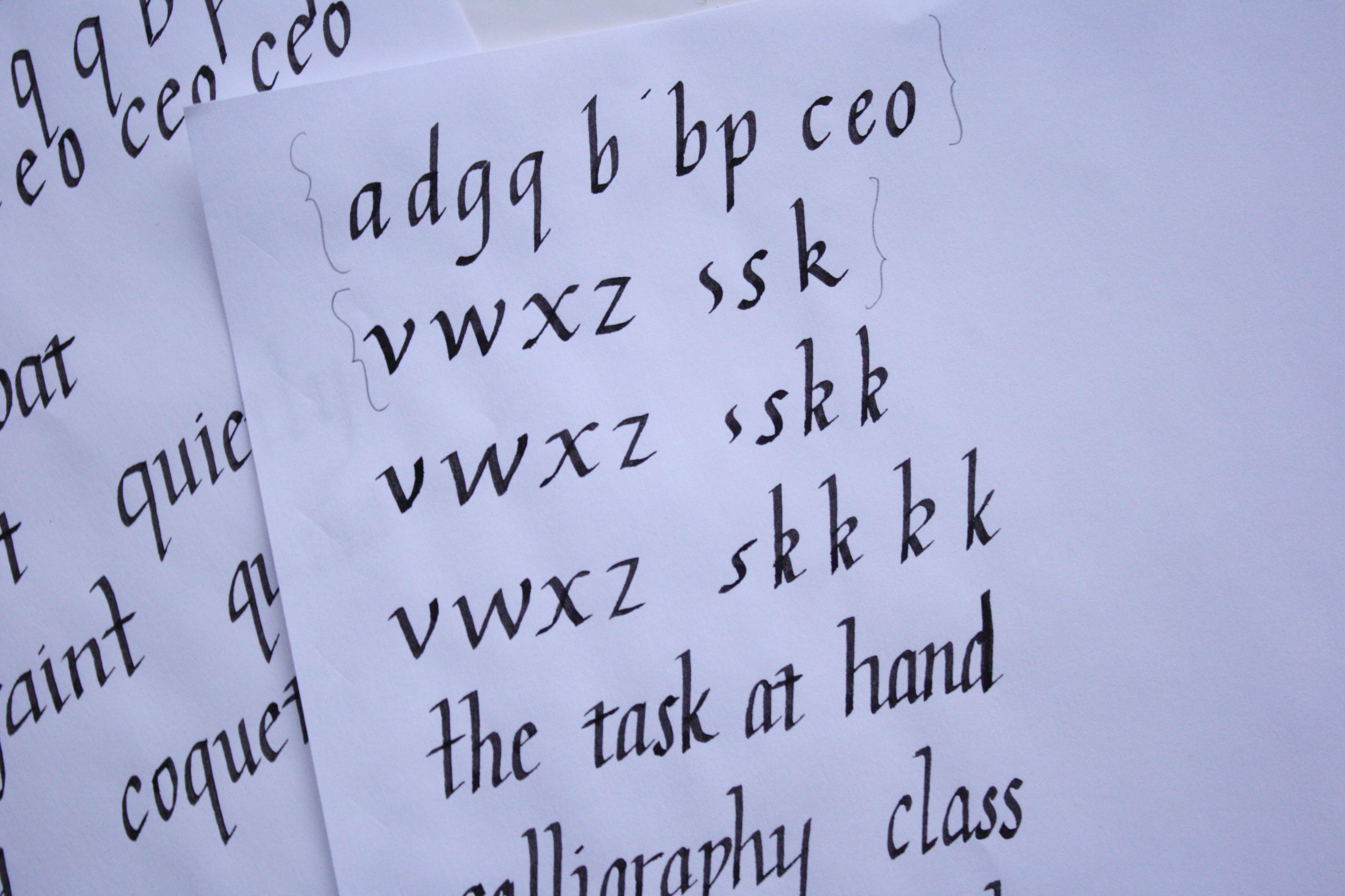 Learning Calligraphy Victoria Mcginley Studio