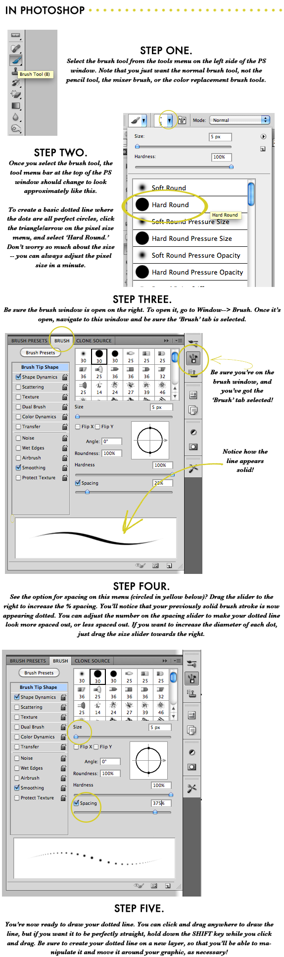 create a dotted line in photoshop tutorial