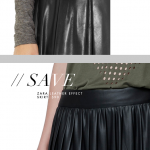 Splurge / Save: Leather Skirts