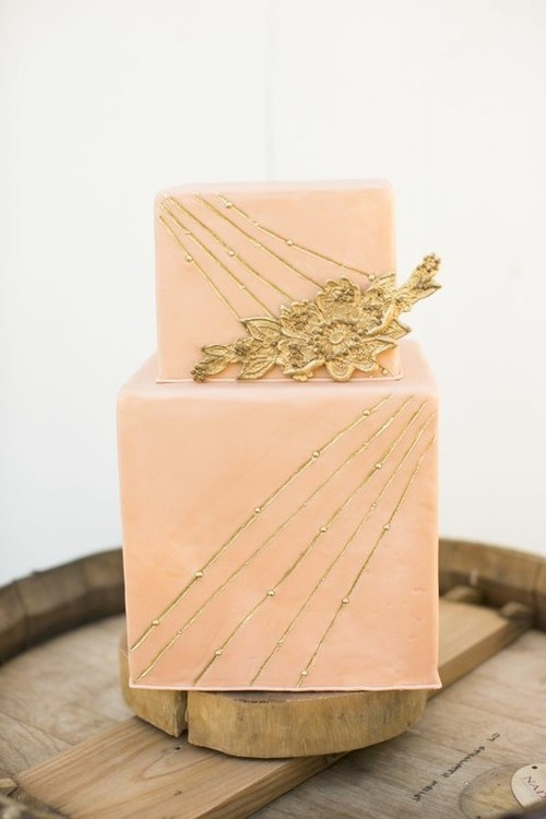 pink + gold cake | vmac+cheese
