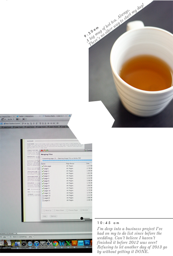 tea and work | via vmac+cheese
