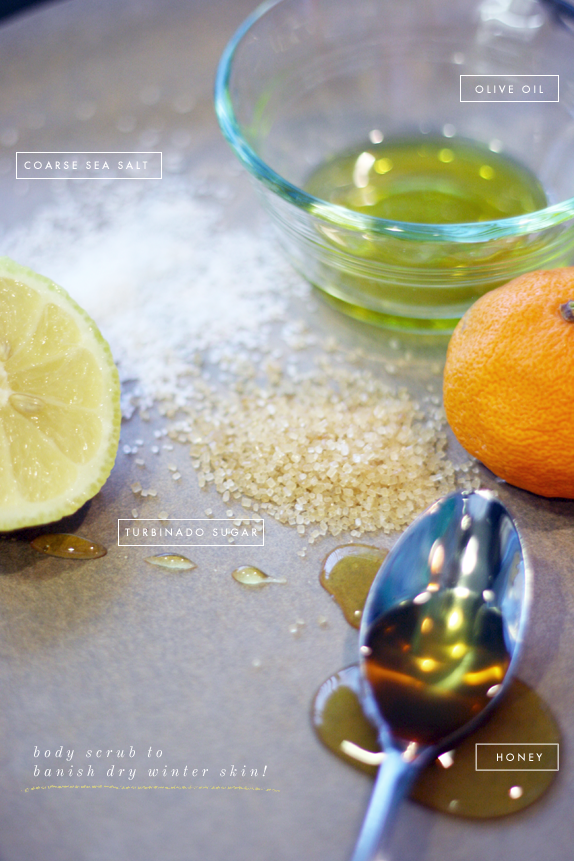 homemade sugar and salt body scrub | via vmac+cheese