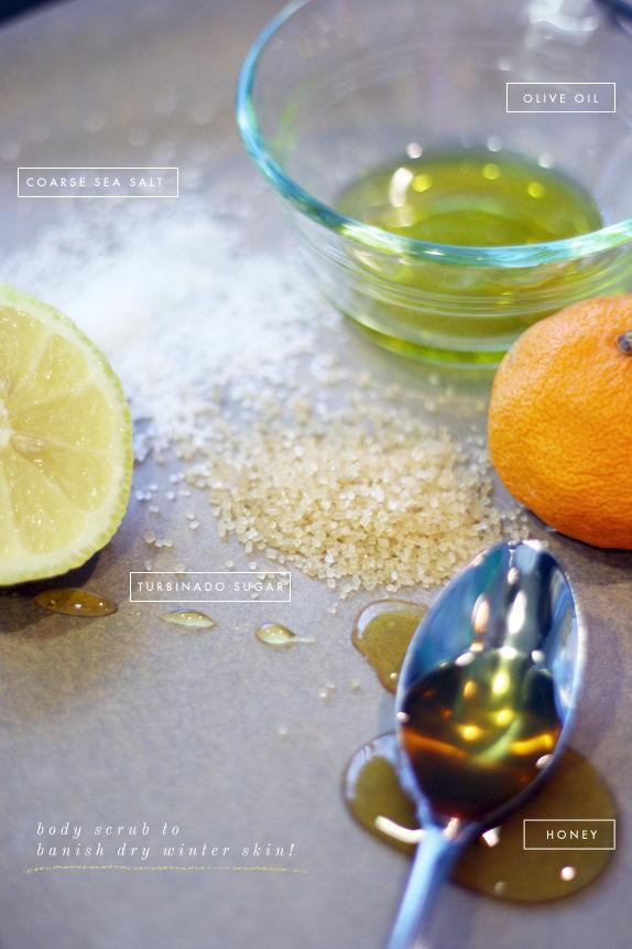 homemade sugar and salt body scrub | via vmac+cheese