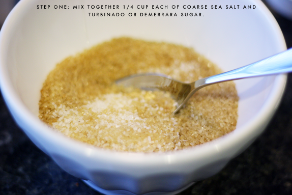 sugar and sea salt scrub | via vmac+cheese