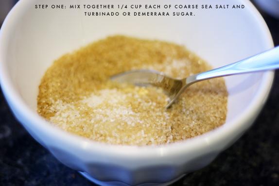 sugar and sea salt scrub | via vmac+cheese