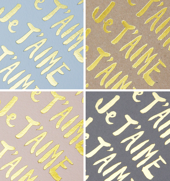 je t'aime notecards from sugar paper | via vmac+cheese