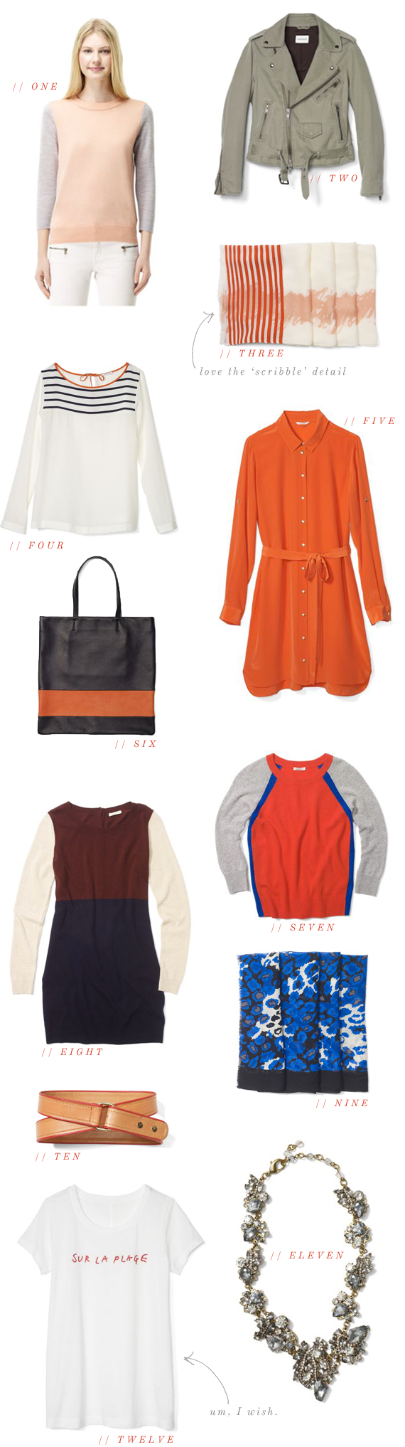 club monaco picks | via vmac+cheese