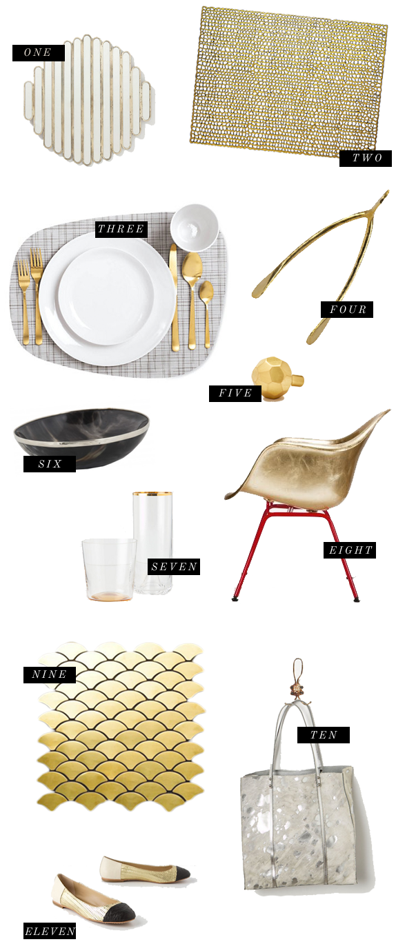 gold + silver | via vmac+cheese