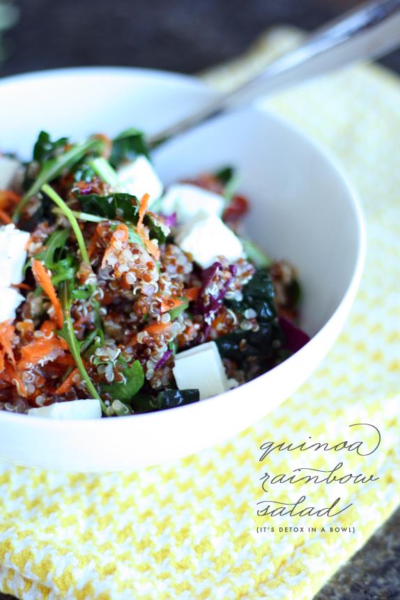 quinoa rainbow salad   via vmac+cheese