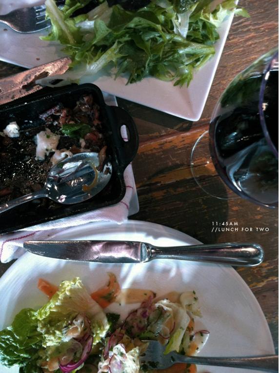 lunch at marlowe | via vmac+cheese