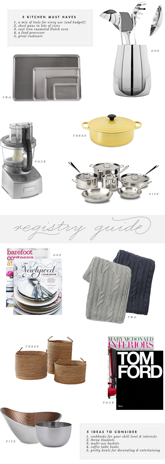 registry ideas | via vmac+cheese