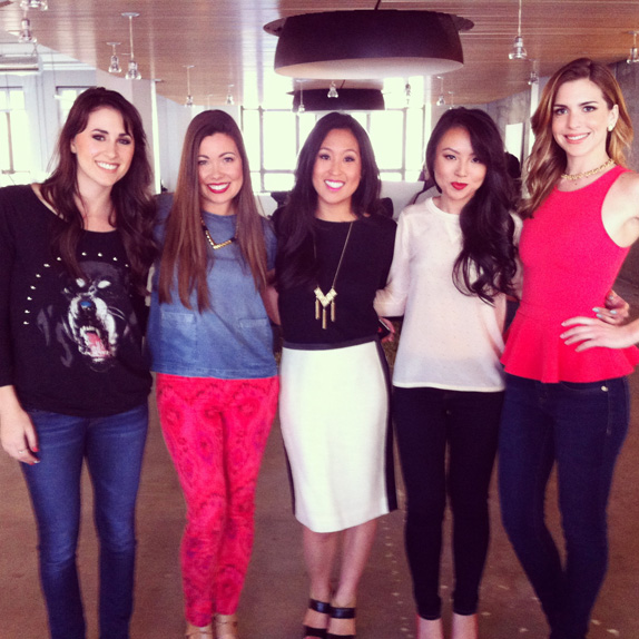 the girls at the sweet & spark shoot | via vmac+cheese