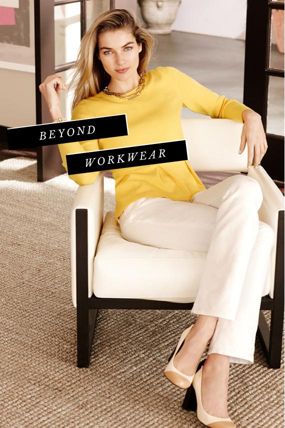 banana republic beyond workwear | via vmac+cheese