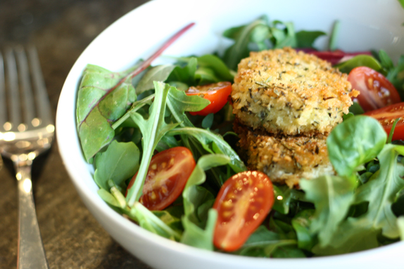 breaded and fried goat cheese | via vmac+cheese