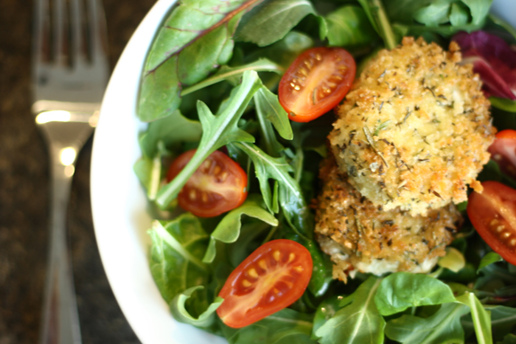 herbed fried goat cheese | via vmac+cheese