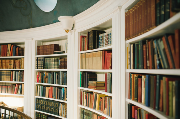 library in the SF Fairmont Penthouse | photography by delbarr moradi | via vmac+cheese