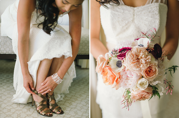 dress by amy kuschel | flowers by natalie bowen | photography by delbarr moradi | via vmac+cheese