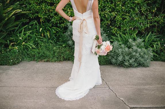 back of wedding dress | dress by amy kuschel, photography by delbarr moradi | via vmac+cheese