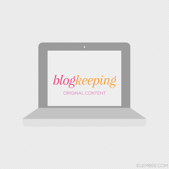 blogkeeping | lisa butler, elembee