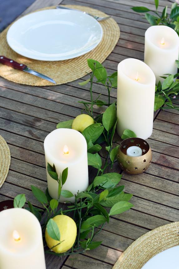 a summery table centerpiece