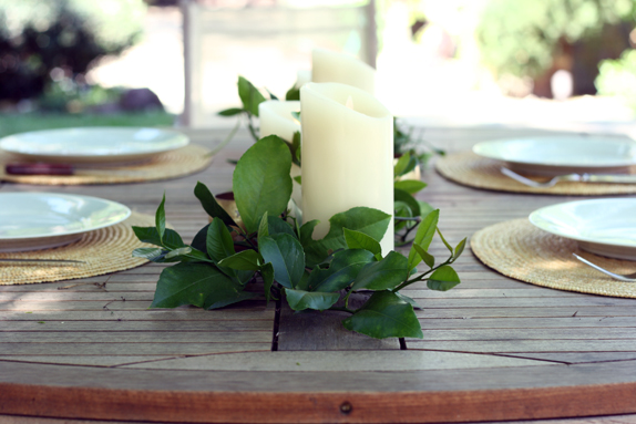 decorating with lemon leaves