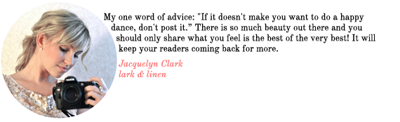 blog advice from lark and linen | via vmac+cheese