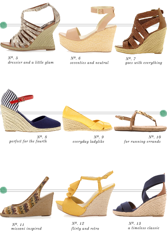 espadrille wedges and sandles