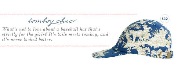 toile baseball cap
