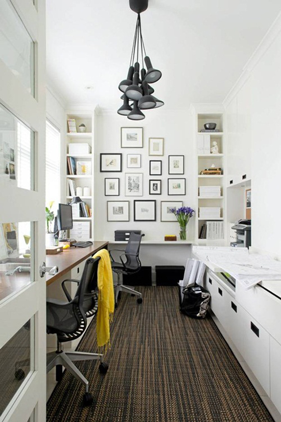 white office, functional workspace