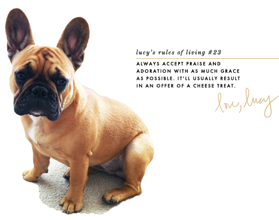 lucy's rules of living | via vmac+cheese