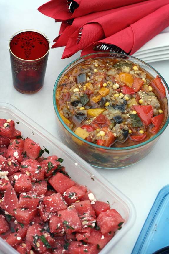 ratatouille and watermelon salad - summer picnic