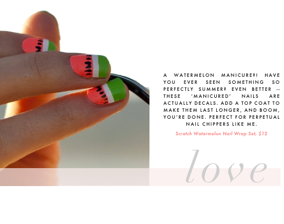 watermelon manicure decals