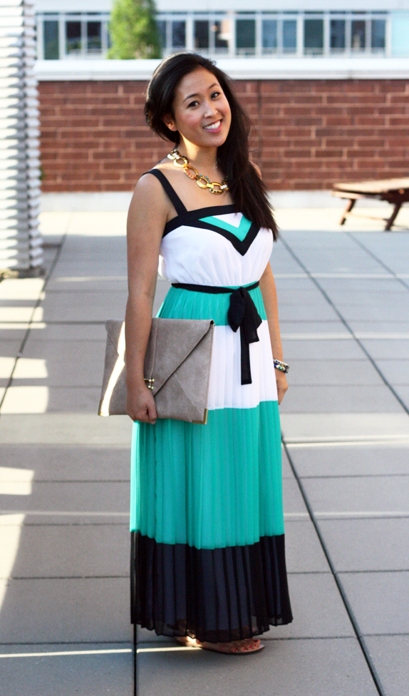 colorblock maxi dress | via vmac+cheese