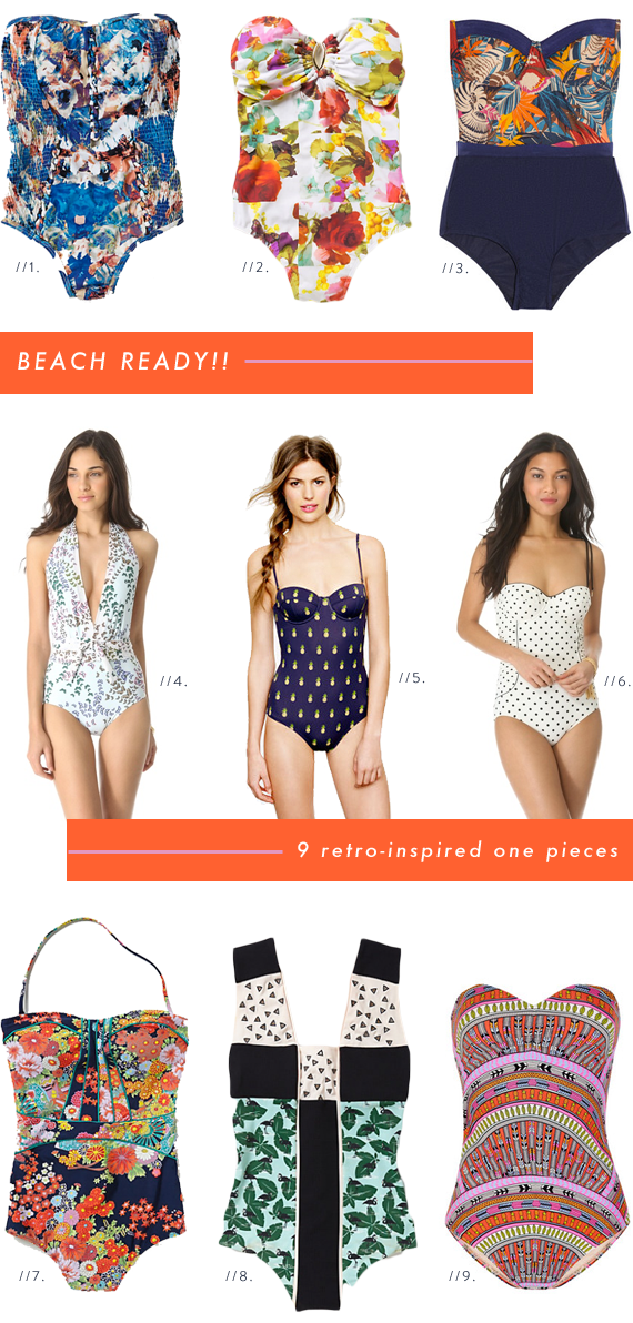9 retro inspired one piece swimsuits