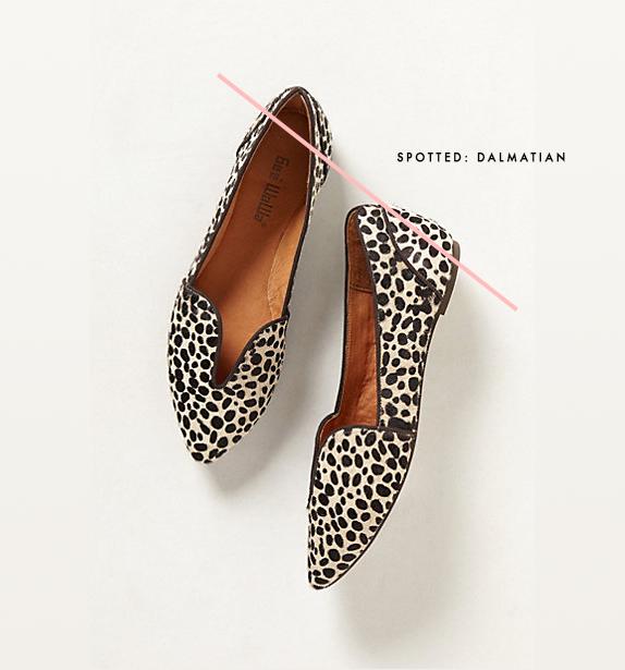 dalmatian print loafer