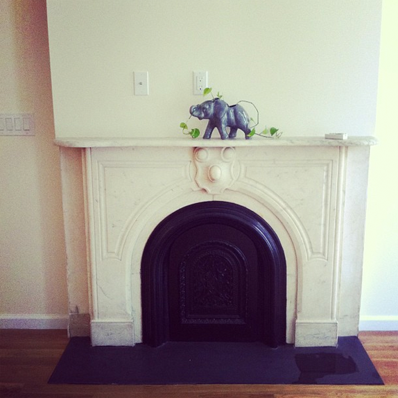 downstairs fireplace