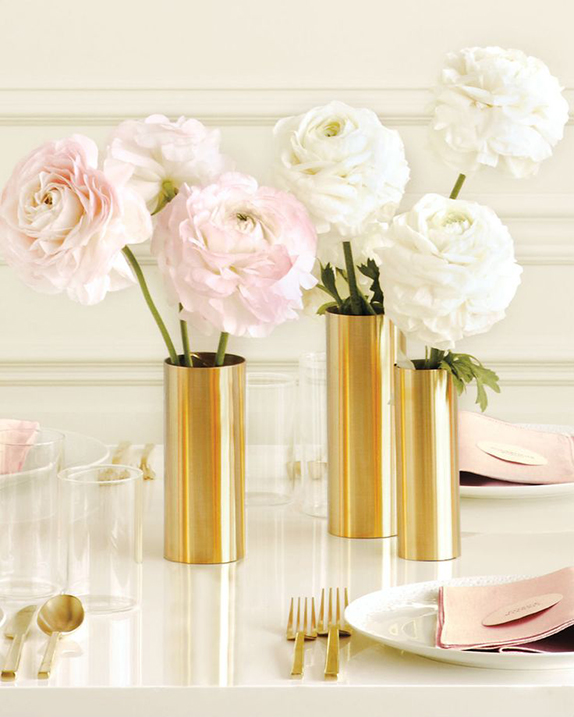 DIY gold foil vases - from Martha Stewart