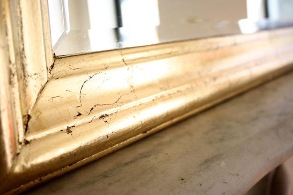 diy gold leaf mirror