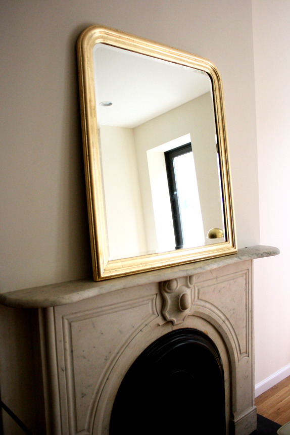 gold leaf a mirror diy