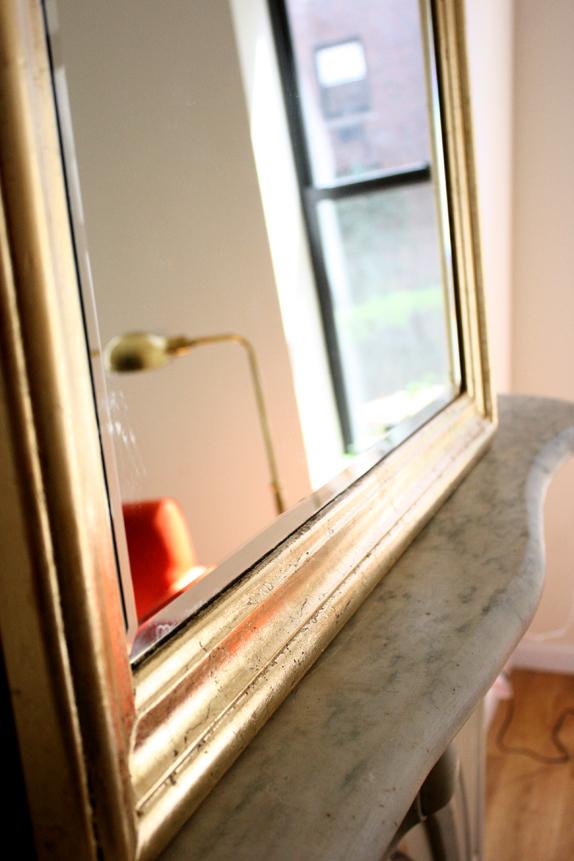 diy gold leaf - tips for gold leafing a mirror frame