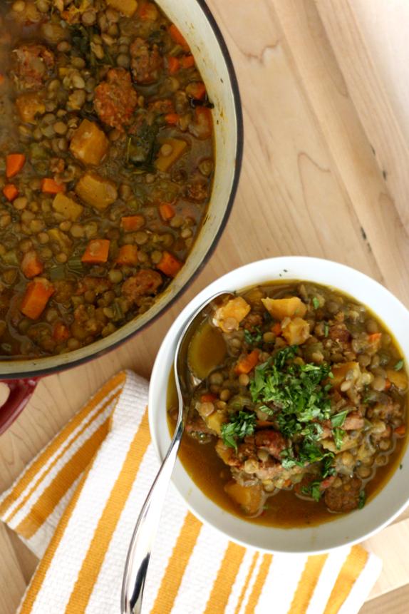 sausage and lentil stew recipe