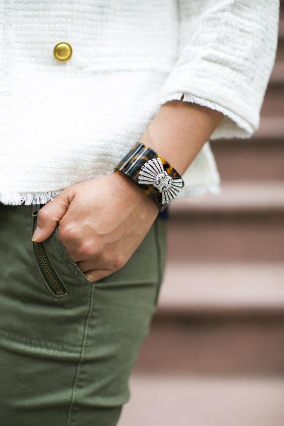 vintage inspired tortoise bracelet