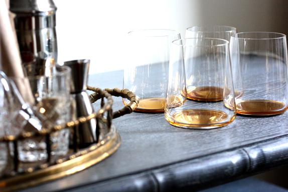 gold wine spirits glasses