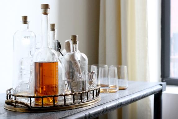 etched spirit bottles