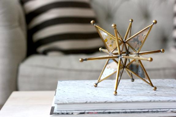 gold christmas tree star