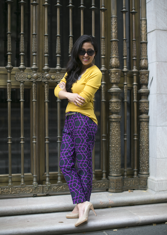 graphic pants from j.crew collection