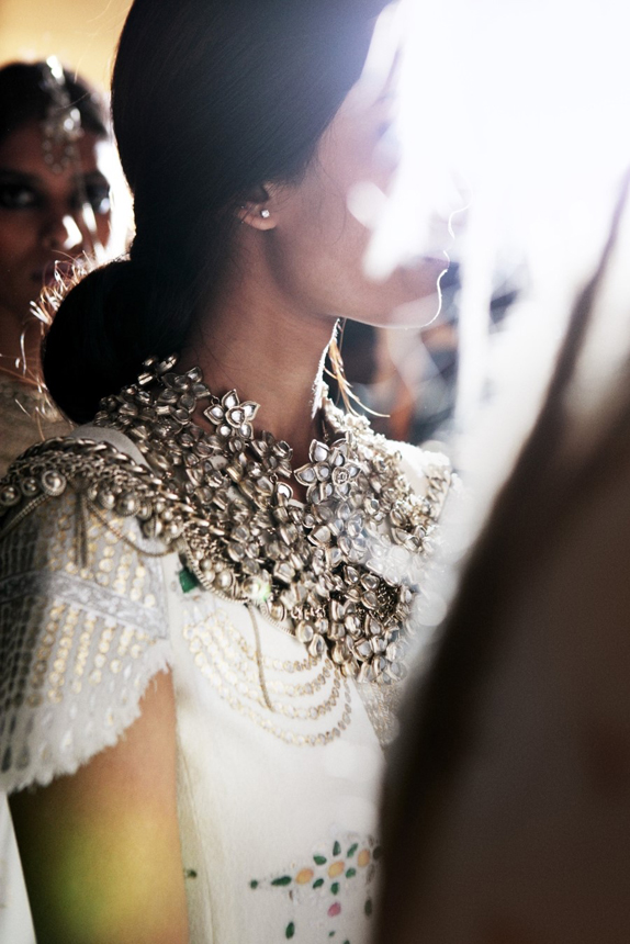backstage at chanel pre-fall 2012