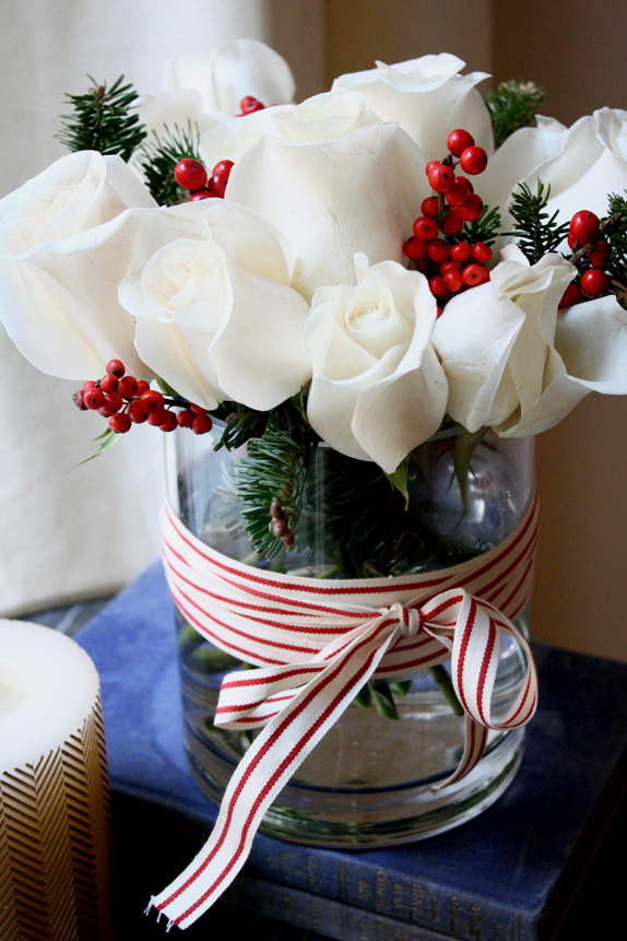 DIY: Easy Holiday Floral Arrangement - Victoria McGinley ...