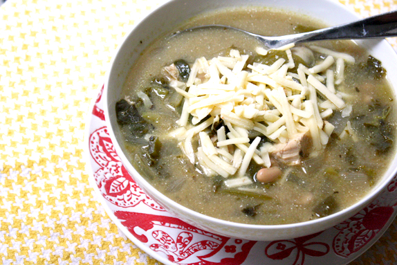 green chili - slow cooker chili inspired by enchiladas suizas