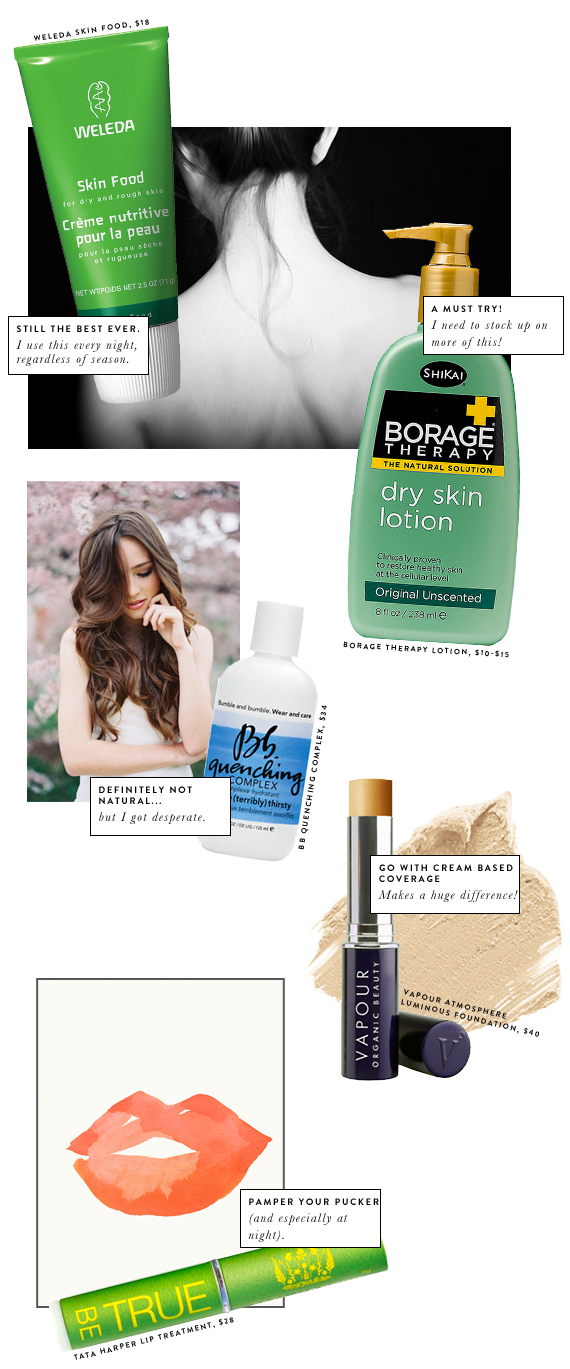 tips for dry skin and hair